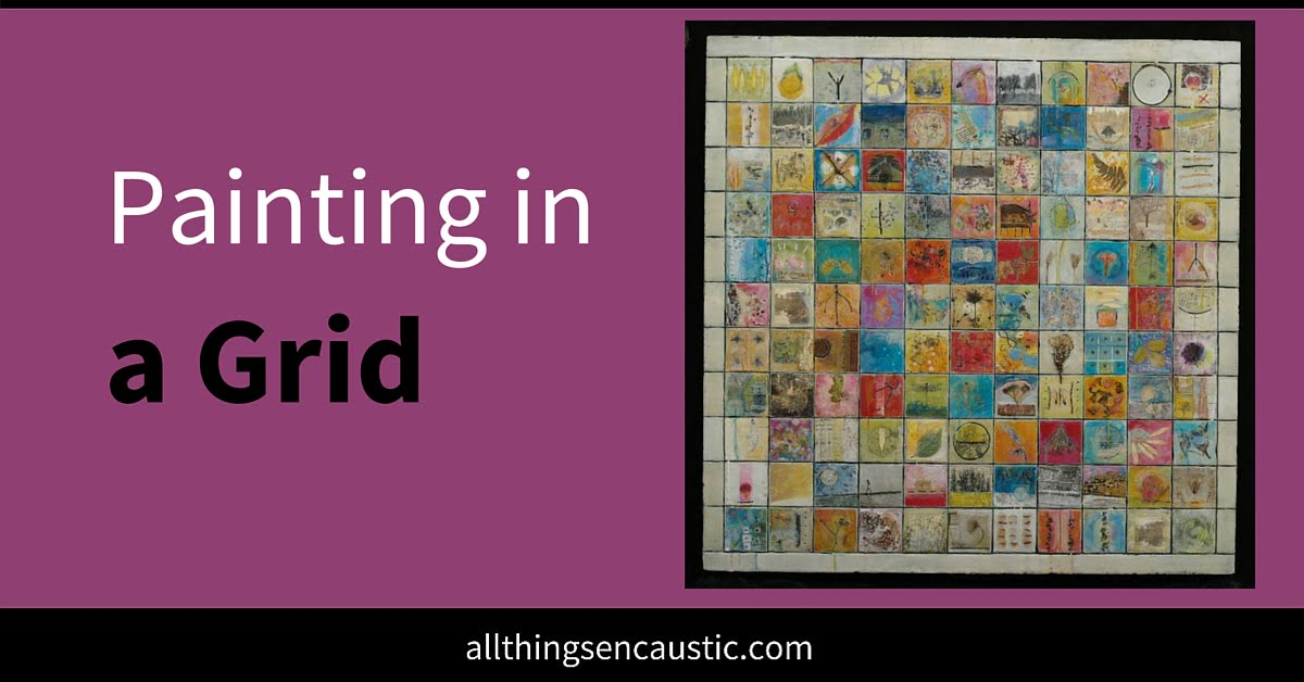 Painting in a grid: drawing the line!