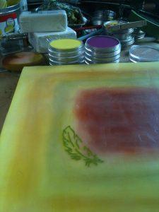 pan pastels encaustic