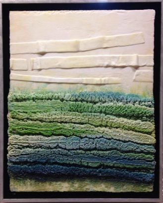 "Somewhere in the in between | Encaustic | 20"" x 16"" 