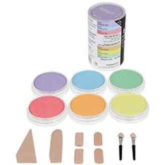 Colorfin PP30062 PanPastel Pearlescent Artist Pastels Set, 9ml, Yellow, Green, Orange, Blue, Red and Violet, 6-Pack