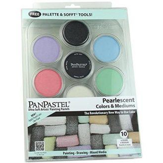 Colorfin PP30113 PanPastel Pearlescent and Mediums Artist Pastels Set, 10-Pack