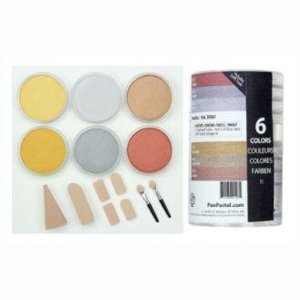 Colorfin PanPastel Ultra Soft Artist Metallic Pastel Set, 9ml, Set of 6, 6-Pack