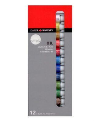 Daler-Rowney simply oil painting 12 colours set