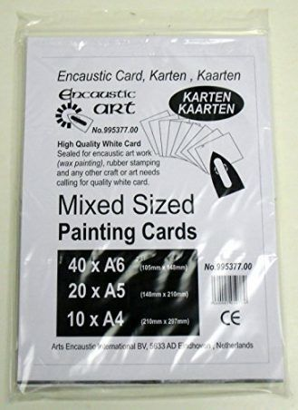 Encaustic Art Mixed Sized Painting Cards White Card #995377.00 NEW