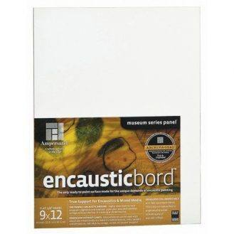 Ampersand Encausticbord Hardboard Panel for Encaustics and Mixed Media, 1/4 inch Depth, 12X12 inch (EN1212)