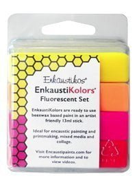 Enkaustikos EnkaustiKolors Fluorescent Set of 4 Encaustic Sticks
