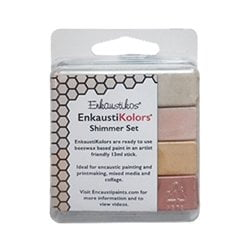 Enkaustikos EnkaustiKolors Shimmer Set of 4 Encaustic Sticks
