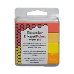 Enkaustikos EnkaustiKolors Warm Set of 4 Encaustic Sticks