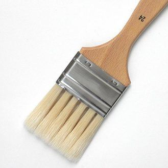 Enkaustikos Slotted Hog Bristle Brushes - No. 24 (Approximately 2 Inches Wide)