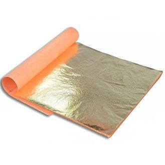 Barnabas Blattgold: Professional Quality Imitation Gold Leaf Sheets, 25 Sheets, 5.5 inches Booklet