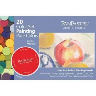 Panpastel Ultra Soft Artist Pastel Painting Set, 20-Pack