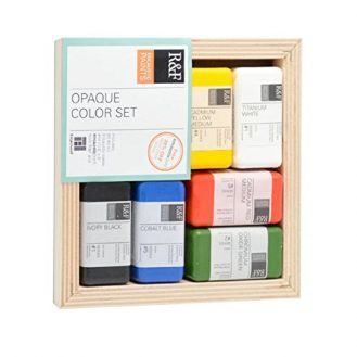 R&F Encaustic Paints Opaque Colors, Set of 6