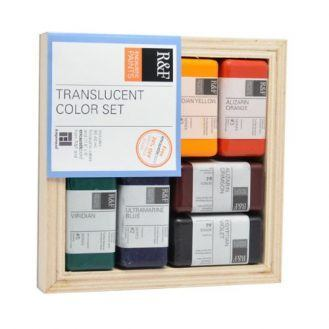 R&F Encaustic Paints Translucent Colors, Set of 6