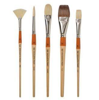 R&F Handmade Paints Encaustic Artist Brush Set