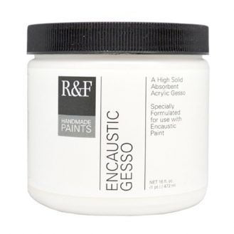 R&F Handmade Paints Encaustic Gesso, 16-Ounce