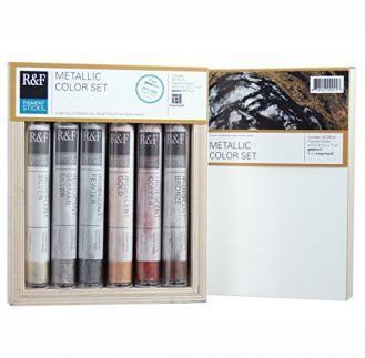R&F Handmade Paints Pigment Sticks, Metallic Colors, Set Of 6 (2920)