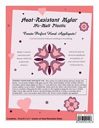 Quilting Creations Heat Resistant Mylar Template Sheet