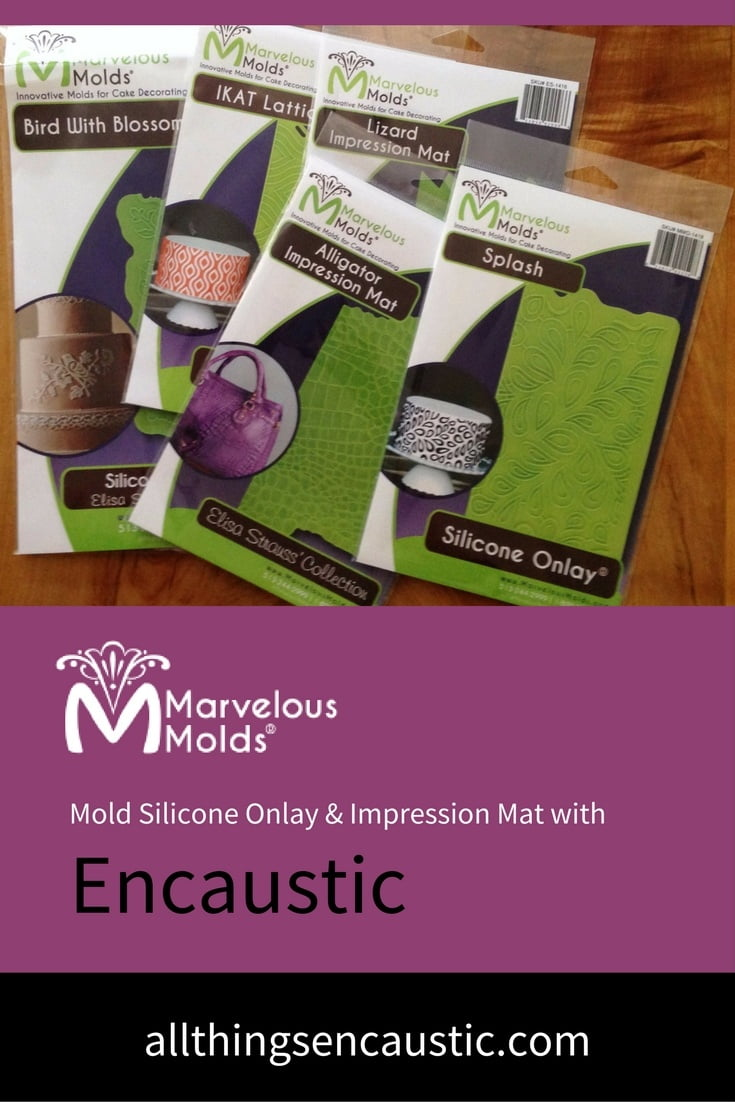 Marvelous Molds silicone stencils are ideal for encaustic art. They are heat-resistant, durable and flexible.