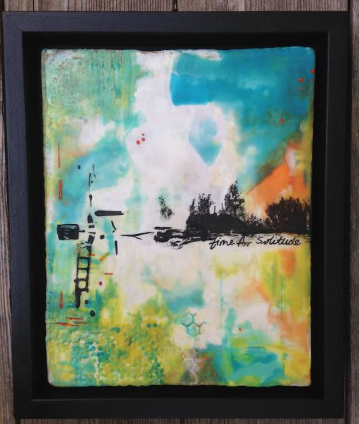 time for solitude - encaustic painting by Ruth Martin-Maude https://allthingsencaustic.com/staging