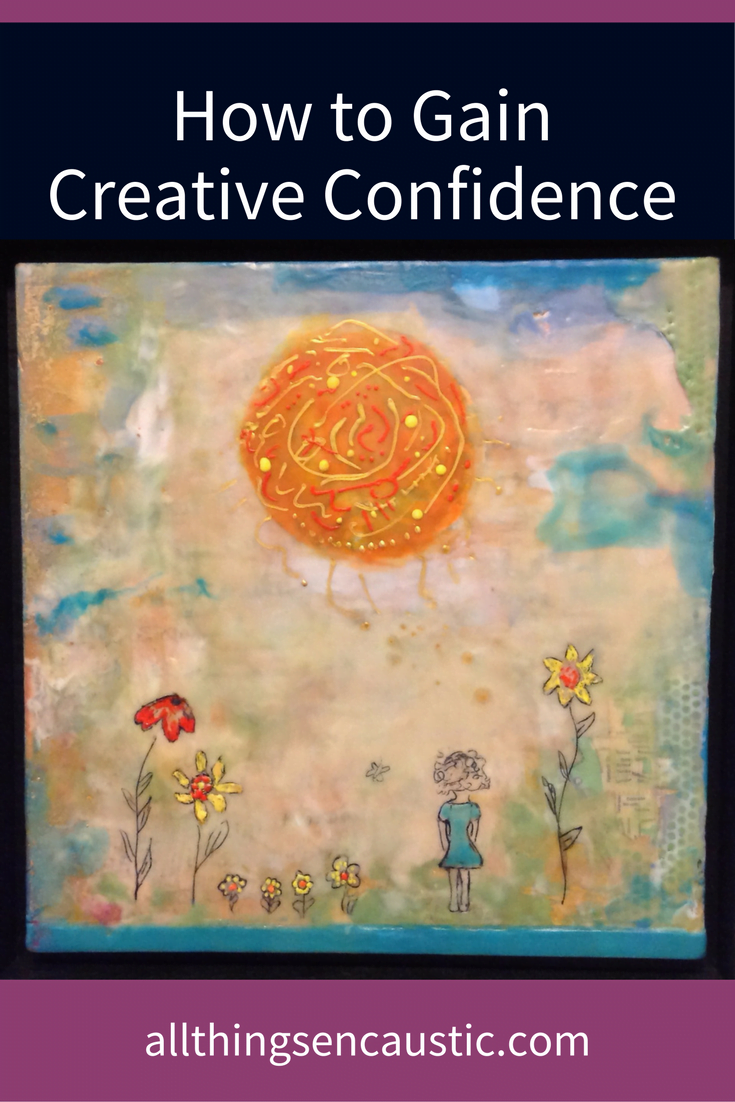 A letter to my younger self - How to build your Creative Confidence. What happened to you to take away your artistic confidence? I encourage you to turn your story into art.