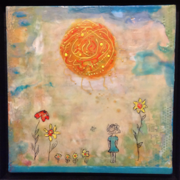 """A Letter to my younger self"" Encaustic Mixed Media 