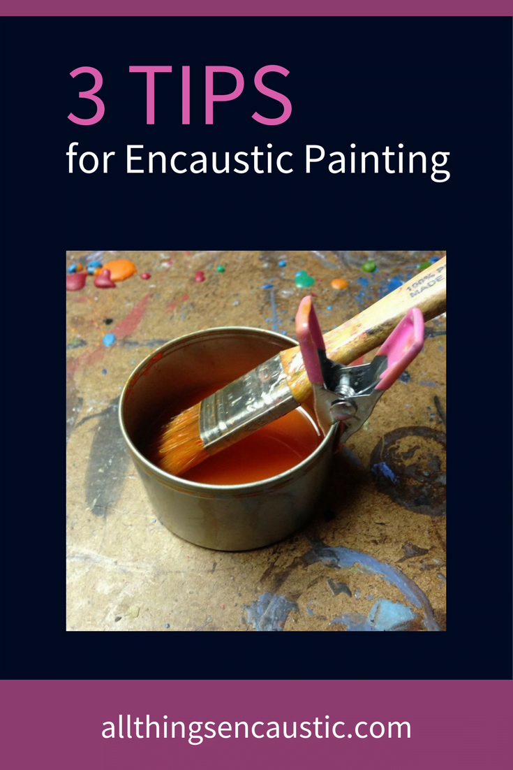 Looking for encaustic painting tips? Here are three simple products that are terrific for cleaning and organizing your encaustic griddle or palette.