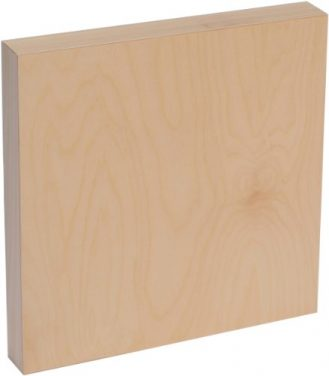 American Easel 8 Inch by 8 Inch by 1 5/8 Inch Deep Cradled Painting Panel