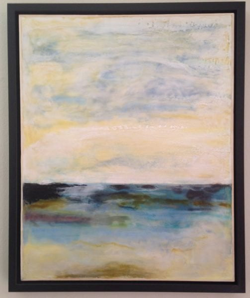 """Horizon"" Encaustic painting by Ruth Martin-Maude"