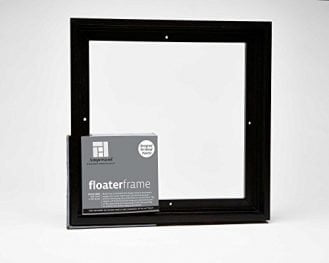 Ampersand Float Frame 7/8 inch Bold 8x10 Black