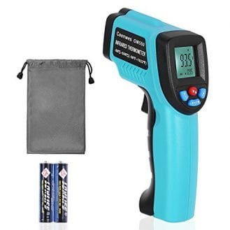 Ceenwes Infrared Thermometer with WATERPROOF STORAGE BAG Digital Temperature Gun -50℃ ~ 550℃/ -58℉~ 1022℉ Non-Contact Laser Thermometer with Adjustable Emissivity and MAX MIN AVG Display
