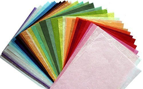 8 5 X11in Thin Mulberry Paper 35 Sheet Design Craft Hand Made Art