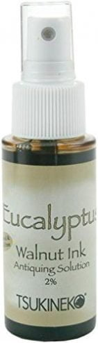 Tsukineko 2 Fluid Ounce Walnut Ink Spray, Eucalyptus