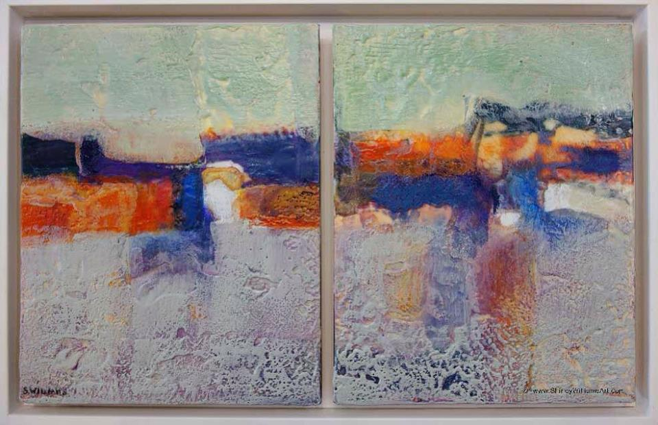 Shirley Williams | Encaustic Diptych Framed