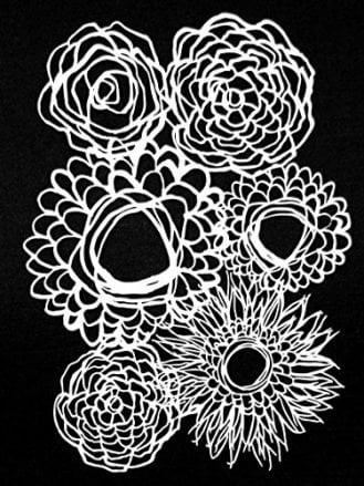 "9""x12"" Deconstructed Floral Bouquet Stencil by Tracie Bautista"