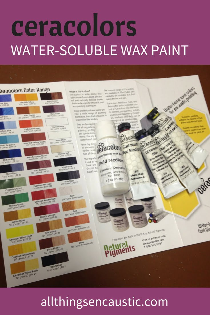 Using ceracolors with encaustic water soluble wax tube paint for Can you use emulsion paint on canvas