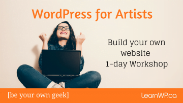 Toronto WordPress Artist Workshop