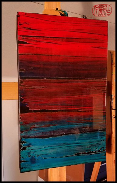 Encaustic Monotype coated in Resin by artistElizabeth Schowachert,