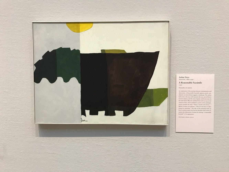 Arthur Dove A Reasonable Facsimile 1942 Encaustic on canvas Art Institute Chicago