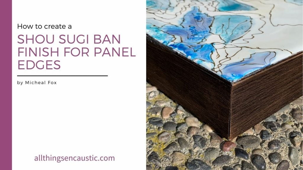 How to create a Shou Sugi Ban Finish for Panel Edges